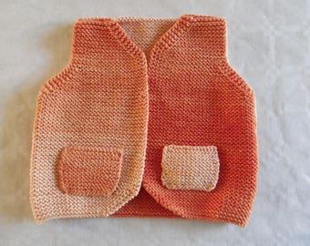 sleeveless cotton jacket size 3 months