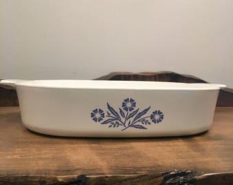 Vintage Corning Ware Blue Cornflower Casserole Dish A-10-B ( 9 3/4 x 9 3/4 x 2)