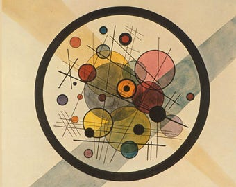 ORIGINAL design, durable and WASHABLE PLACEMAT - Wassily Kandinsky - Wassily Kandinsky - black circle - classic.
