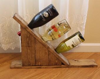 Wine Rack/Rustic Wine Rack/ Wine Holder/Wooden Wine Rack/ Unique Wine Rack