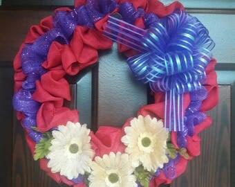 Pink/Purple Wreath