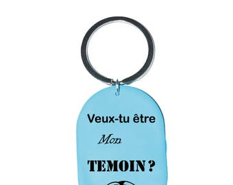 """Will Keychain you be my best man?""  Turquoise"