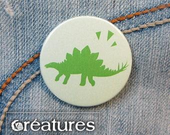 Dinosaur Stegosaurus 38mm badge