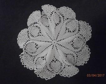 Beautiful white cotton thread doily