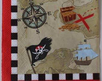 paper towel treasure map 4 identical designs