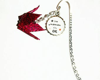 Bookmarks origami crane for my mom