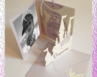 Tinkerbell invitation and ('Disney ' way) Star - birth and baptism