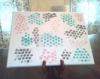 12 by 9 Bubble Wrap Painting