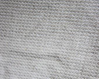 Ecru beige damask cotton canvas 10 x 146 (ref 16)