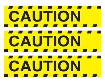 Caution Cake topper strips