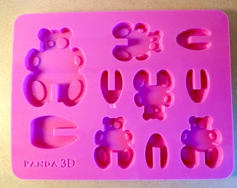 Panda silicone - food - 3D chocolate mold mold