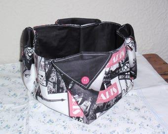 Pink and black, organizer basket