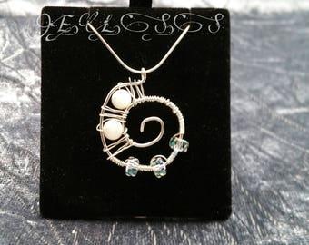 Nature's Spiral - Sterling Silver & Semi Precious Gemstones
