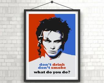 ADAM ANT  |  Don't Drink Don't Smoke  Music  |  Portrait Poster Print