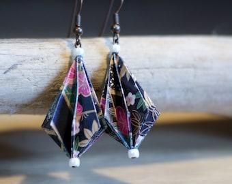 "origami ""pleated"" shape earrings"