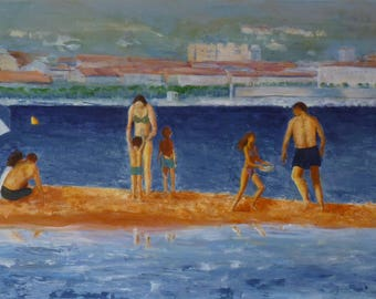 Acrylic on canvas French Riviera place
