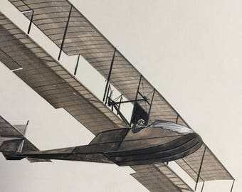 Original Art, Aviation Advertising, Benoist Flying Boat Type XIV