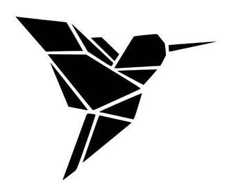 Pattern fusible origami bird