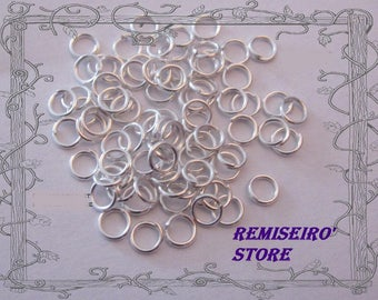 50 silver 4 mm open nickel hoop