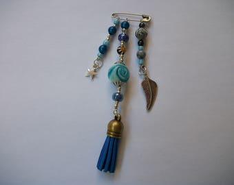 Fancy blue brooch