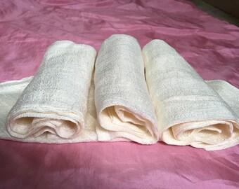 Silk face towel