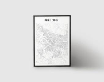 Bremen Map Print