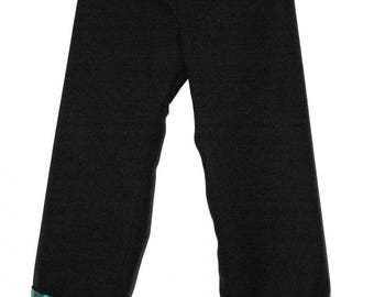 Pants Baltic black fabric lined with cotton printed