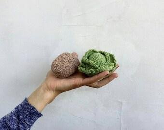 Crochet potato. Crochet food. Play food.