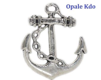 Charm 27 x 24 in antique silver anchor