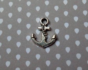 Antique silver anchor charm