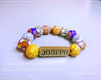 Handmade personalized bracelet