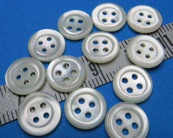 Buttons MOP 0.95 cm (12)-#2004095