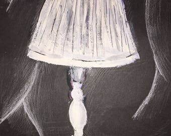 Painting of white lamp