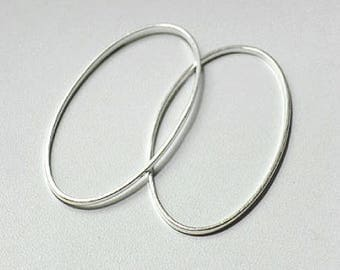 Set of 50 oval closed jump rings, brass, 16 x 9 mm, thickness: 1 mm