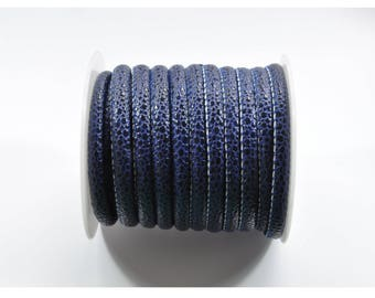 CO29 - 1 meter of dark blue faux leather look cord