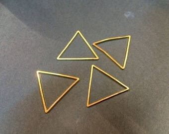 20 spacer triangles 21mm for jewelry designs
