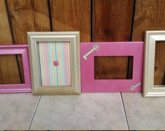 Set of 4 up cycled picture frames