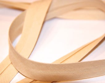 18MM BEIGE POLYCOTTON BIAS