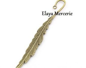 x 1 bookmark feather bronze