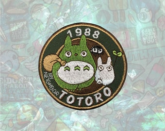 1988 Totoro Patch Cartoon patch back patch hat patch bag patch sew on patch Iron on Patch