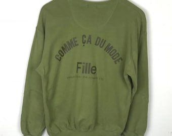 Rare!!! Comme Ca Ism Sweatshirt Pullover Big Logo Spellout Jumper