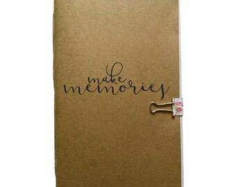 Make Memories Notebook, Travel Journal, Kraft Notebook