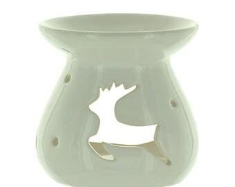 White deer incense burner
