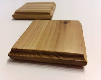Solid Cedar Wood Coasters