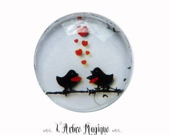 EPOXY resin 25 MM Cabochon stick bird 25 mm - A186