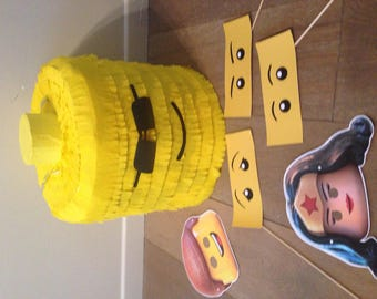 Character Lego head shaped piñata