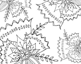 Floral Pattern Printable Colouring Page