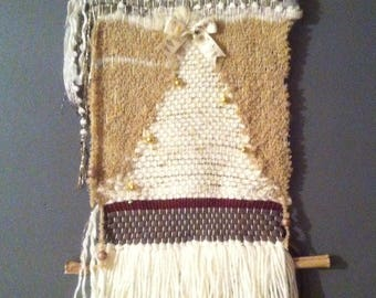 Small weaving in the spirit of Christmas