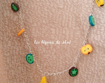 Necklace - chain polymer C1106 fruit