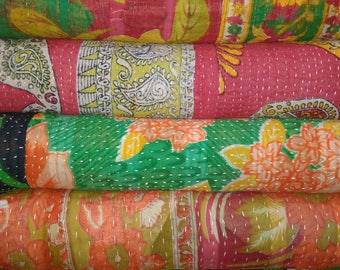 recycle cotton kantha embroidered bed cover 10 pieces lot